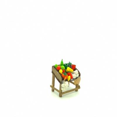 Santon Provence bac légumes