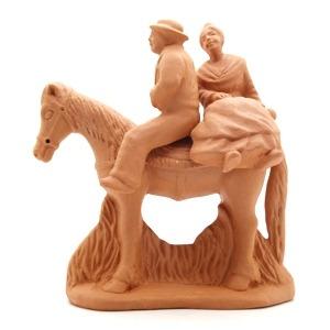 Gardian arlesienne à cheval
