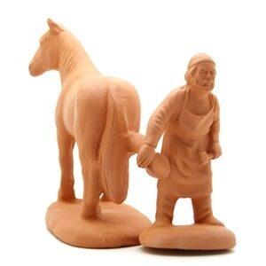 Santon de Provence à peindre le maréchal ferre son cheval