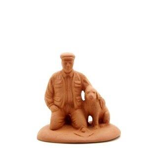 Santon de Provence à peindre le truffier au chien