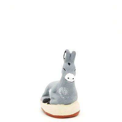 santon provence âne peint à la main face