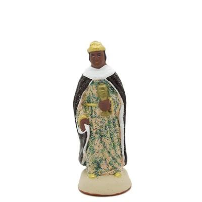 santon de provence peint à la main roi noir
