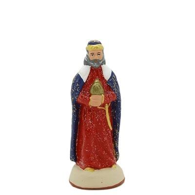 Roi blanc santon de provence peint à la main