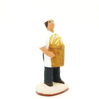 Boulanger santon peint à la main profil