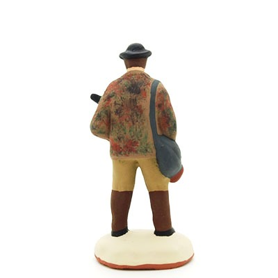 Le chasseur - santon de Provence peint à la main dos