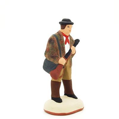 Le chasseur - santon de Provence peint à la main profil
