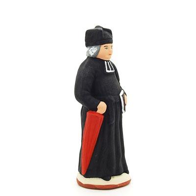 santon peint à la main curé profil