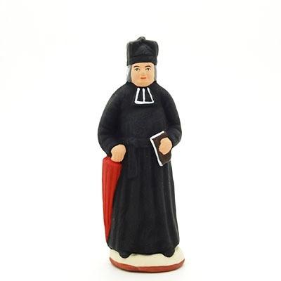 santon peint à la main curé
