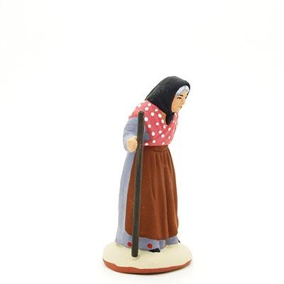 santon peint à la main femme baton profil