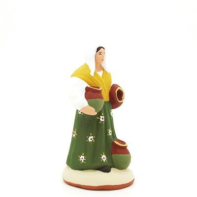 santon peint à la main femme cruche profil