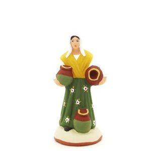 santon peint à la main femme cruche