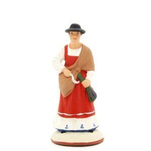 santon peint à la main femme lavande