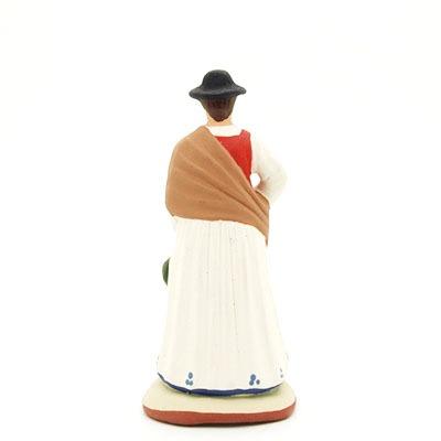 santon peint à la main femme lavande dos