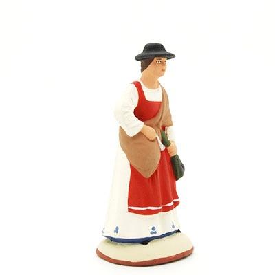 santon peint à la main femme lavande profil