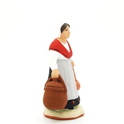 santon peint à la main femme limaçon profil