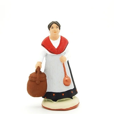 santon peint à la main femme limaçon