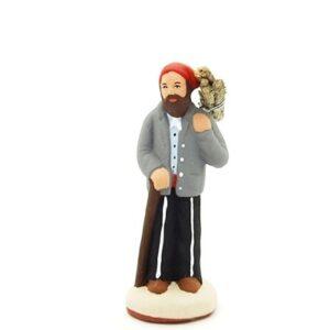 santon de provence peint à la main homme fagot