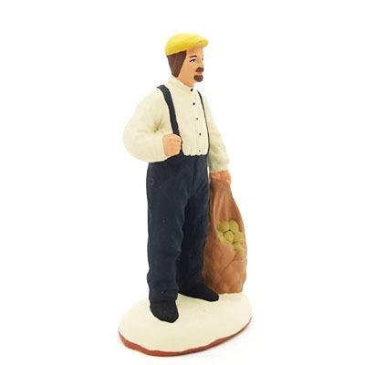 santon de provence peint à la main homme pommes de terre profil