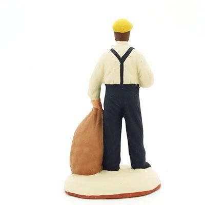 santon de provence peint à la main homme pommes de terre dos