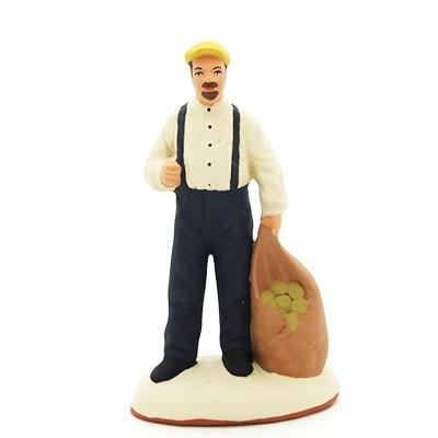 santon de provence peint à la main homme pommes de terre