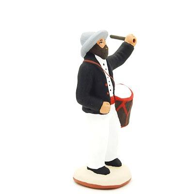 santon de provence peint à la main tambourinaire profil