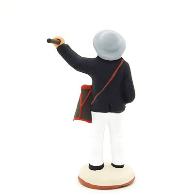 santon de provence peint à la main tambourinaire dos