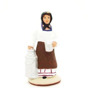 Santon provence peint mains laitière