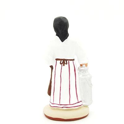 Santon provence peint mains laitière dos