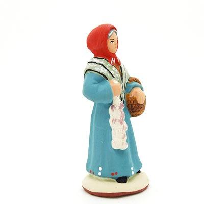 Santon provence peint main femme à l'ail profil