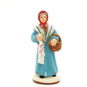 Santon provence peint main femme à l'ail