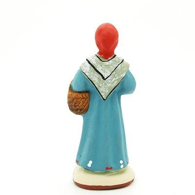 Santon provence peint main femme à l'ail dos
