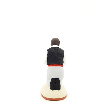 santon de provence peint à la main prieur dos
