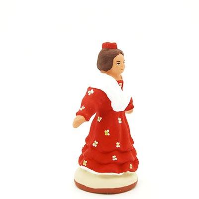 santon provence peint mains danseuse 2 profil
