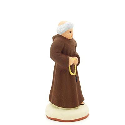 santon de provence peint à la main moine profil