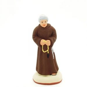 santon de provence peint à la main moine