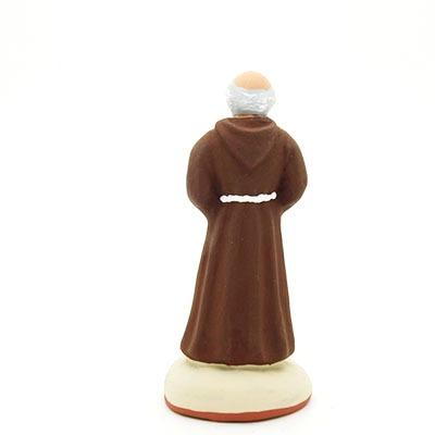 santon de provence peint à la main moine dos