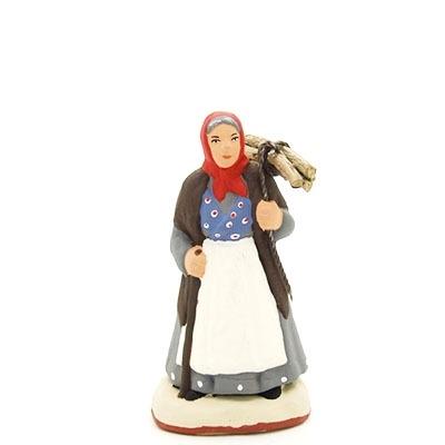 santon peint à la main La femme au fagot