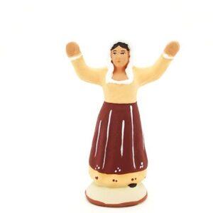 santon de provence peint à la main ravie