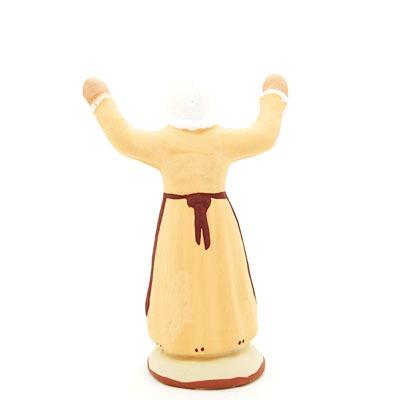 santon de provence peint à la main ravie dos