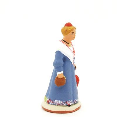 santon de provence peint à la main mireille profil