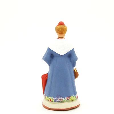 santon de provence peint à la main mireille dos