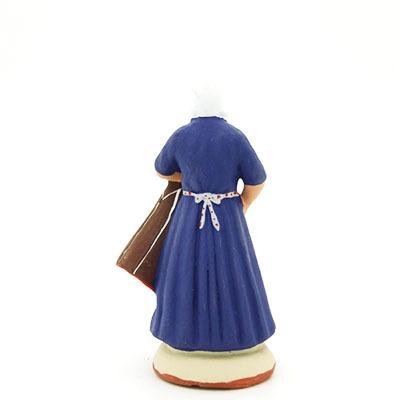 santon peint à la main femme tambourinaire dos