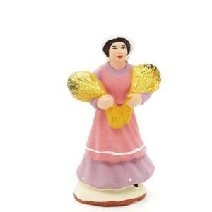 santon peint main la femme aux blés