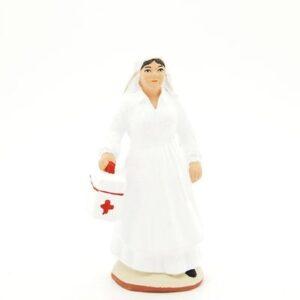 santon de provence peint à la main infirmière