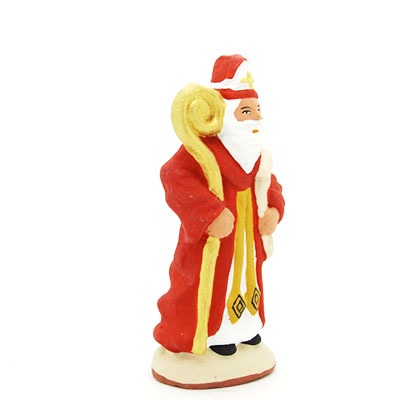 santon de provence peint à la main saint nicolas profil