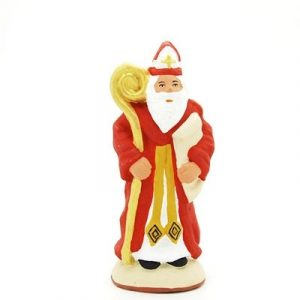 santon de provence peint à la main saint nicolas