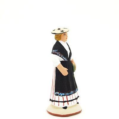 santon de provence peint à la main niçoise profil
