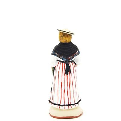 santon de provence peint à la main niçoise dos