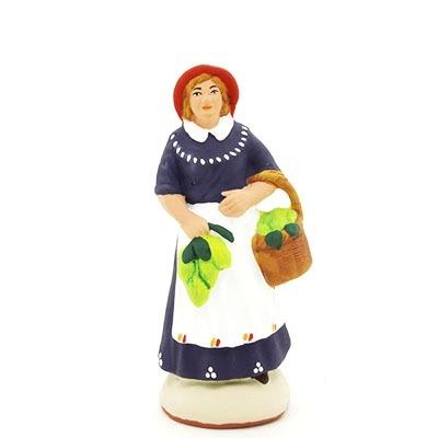 santon peint à la main femme au citron