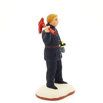 santon de provence peint à la main pompier profil